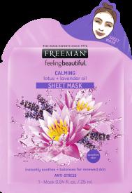 Masque calmant feuille de lotus + huile de lavande