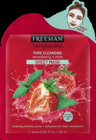 Masque nettoyant des pores aux fraise + menthe