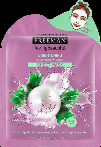 Masque en feuille éclaircissant aux algue + perle